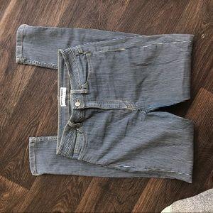 American Apparel Railroad-Striped Skinny Jean